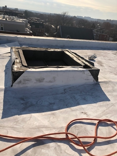 Commercial Roof Replacement -- Before